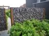 Cortenstaal met Deco Black 160cm hoog
